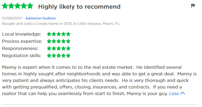 Zillow Review Manny 1