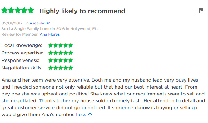 ZIllow Review Ana Sold